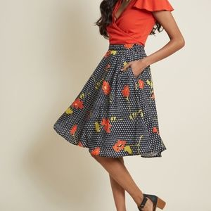 New Modcloth Just This Sway A-Line skirt